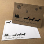 Christmas Cards x 10 – Dachshund through the snow