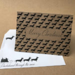 Christmas Cards x 10 – Dachshunds galore